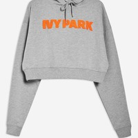 Chenille Logo Hoodie by Ivy Park | Topshop