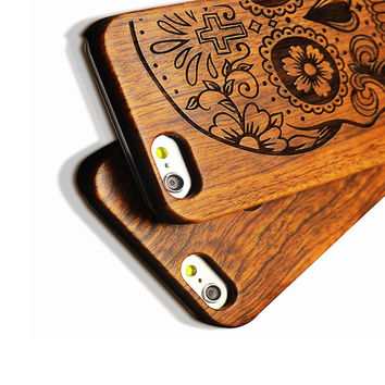 Wood Case For iPhone 6 6s Wooden 5 5s SE New Case Natural Real Bamboo Carving Wood + Plastic Edges Back Cover For iPhone 6s Plus