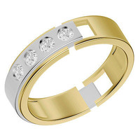 FANTASTIC BIG CZ STUD 925 STERLING SILVER ENGAGEMENT AND WEDDING BAND FOR HIS