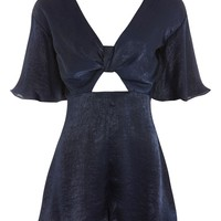 Knot Satin Playsuit - New In Fashion - New In