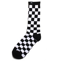 Checker Socks Black