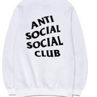 'anti social social club' Sports round neck sweater[10077456391]