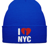 I LOVE NYC EMBROIDERY HAT - Beanie Cuffed Knit Cap