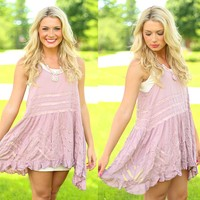 Trapeze Tunic in Misty Pink by Free People