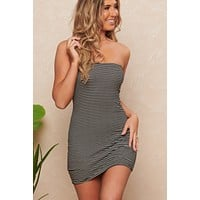 Jacklyn Striped Dress (Black/Ivory)
