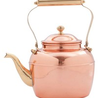 Old Dutch 2.5 qt. Solid Copper Tea Kettle with Brass Handle - Replacement for # 837   www.hayneedle.com