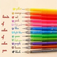 Flycool Support New Novelty Candy Colors Colorful Gel Pen Set School Supplies Colored Gel Pens (Color: Multicolor) [9305903047]