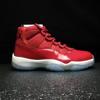 "Best Deal Online Nike Air Jordan Retro Chicago Air Jordan 11 ""Win Like 96"" Gym Red/Black-White 378037-623"