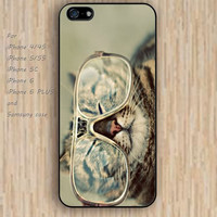 iPhone 5s 6 case Cartoon Glasses Funny Cat dream phone case iphone case,ipod case,samsung galaxy case available plastic rubber case waterproof B729