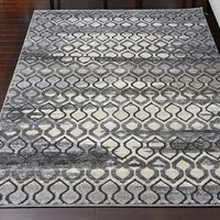 5601 Gray Carved Contemporary Area Rugs