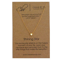 Gold Star Necklace - Shining Star Necklace Simple Dainty Necklace Congratulations Gift Idea Delicate Message Jewelry Meaningful Graduation