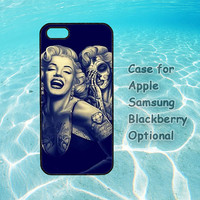 Day Of The Dead Marilyn Monroe for iphone case 4 4s 5 ipod touch 4 5 ipod case 4 5 Samsung galaxy case s3 s4 note 2 blackberry case Q10 Z10