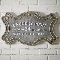 Laundry Room Metal Sign