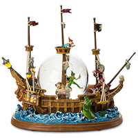 Disney Jolly Roger Ship Peter Pan Snowglobe | Disney Store