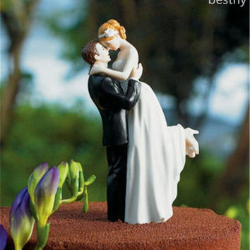 Romance Couple Wedding Cake Toppers (Color: Transparent White) = 1932975812