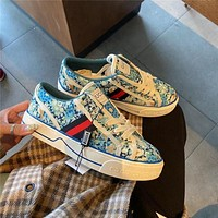 Gucci Tennis1977 Haze blue canvas casual shoes