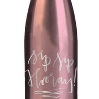 Stainless Steel Water Bottle - Sip Sip Hooray