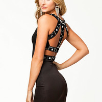 Detailed Back Bodycon Dress