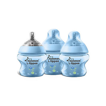 Tommee Tippee Closer to Nature 3 Pack Decorated 5 Ounce Bottle - Boys