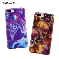 Balleen.E Phone Cases For iPhone 8 7 6 6s Plus Case Luxury Marble Stone Colorful Soft TPU Back Cover Fundas Case For iPhone 7