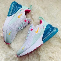 Nike Air Max 270 third-generation shoes Half Palm Air Cushion Mesh Surface Breathable men's and women's casual sports shoes 5