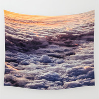 Wall Tapestry, Wall Hanging, Clouds, Sky, Heavens, Photography Wall Art, Large Photo Wall Art, Modern Tapestry, Home Decor