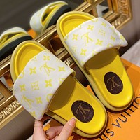 LOUIS VUITTON LV Fashion casual shoes and slippers Shoes White&Yellow