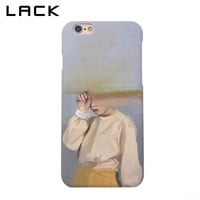 LACK Fashion Hard PC Frosted Phone Case For iphone 6 Case Abstract Art Girl Sand Painting Back Cover For iphone 6S 6 Plus Cases