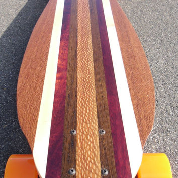 """LONGBOARD - 40 x 10 - Made from Exotic Woods """"Bonny Doon"""" complete"""