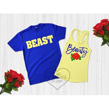 Beauty and the Beast Matching Couple's Shirts