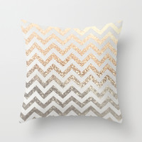 GOLD & SILVER Throw Pillow by Monika Strigel