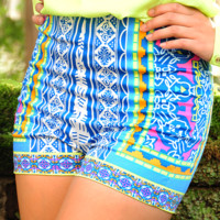 Looking For Stars Shorts: Blue/Multi