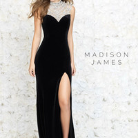 Madison James 15-145 Jeweled Velvet Prom Dress Evening Gown