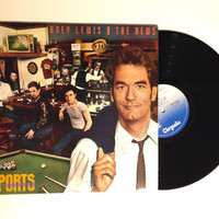 VALENTINES DAY SALE Huey Lewis And The News Sports Lp Album 1983 80s Rock Bad Is Bad I Want A New Drug Honky Tonk Blues Vinyl Record