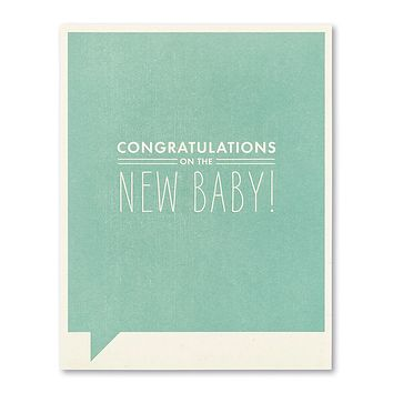 New Baby Greeting Card - Congratulations on the New Baby!