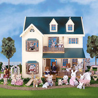 CALICO CRITTERS #CC1997 Deluxe Village House - New Factory Sealed - Sylvanian