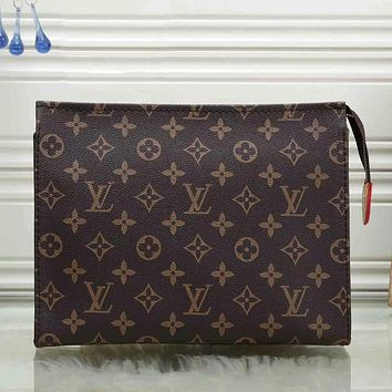 Louis Vuitton LV Fashion Men and Women Cosmetic Bag Clutch