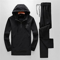 Boys & Men Versace Fashion Top Sweater Pullover Hoodie Pants Trousers Set Two-Piece