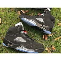 Air Jordan 5 O G ¡°Black Metallic Basketball Shoes 40-47