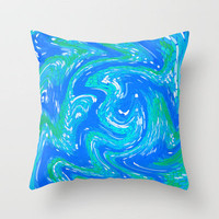 liquid Throw Pillow by Sylvia Cook Photography | Society6