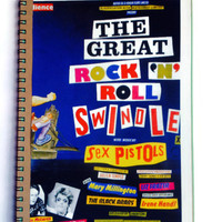 SEX PISTOLS The Great Rock N Roll Swindle note book Free UK Postage