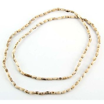 """4mm Tulasiwood Oval Neck Beads - 32""""L"""