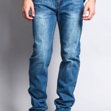 Premium Denim Skinny Fit Jeans (Classic Blue)