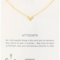 """Dogeared """"Whispers"""" Silver Bow Necklace - 18"""""""