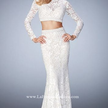 Two-Piece Lace Gown by La Femme