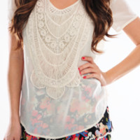 Diamond In The Rough Top: Ivory | Hope's