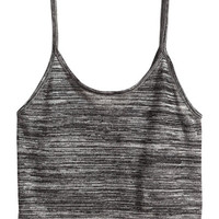 Cropped Jersey Tank Top - from H&M