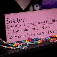 Sister Definition Wooden Sign
