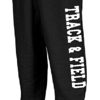 TRACK AND FIELD SWEATPANTS HIGH SCHOOL SPORTS SWEAT PANTS TRAINING ATHLETICS
