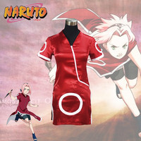 Cartoon Anime Naruto Haruno Sakura Cosplay Costume Yamanaka Ino Cosplay Costume Halloween Costume for Women / Kids Customized